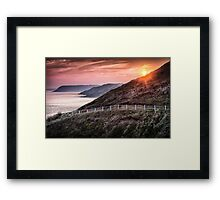 South Gower coastal path Framed Print