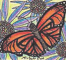 Monarch Butterfly on Flower by Coetions
