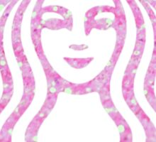 Starbucks Mermaid Pink Glitter Logo Sticker