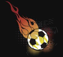 Soccer Fire Ball by KCGraphics