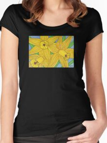 Daffodil Trio Women's Fitted Scoop T-Shirt