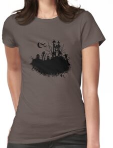 Haunted House Womens Fitted T-Shirt