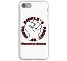 People's Front of Judea Black/Red text iPhone Case/Skin