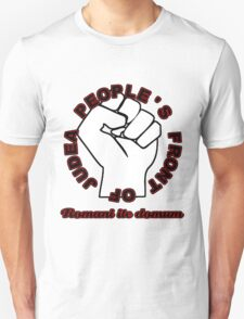 People's Front of Judea Black/Red text T-Shirt
