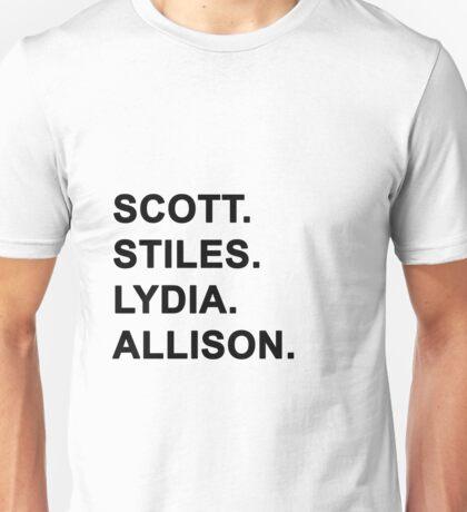 The McCall Pack - Teen Wolf. Unisex T-Shirt