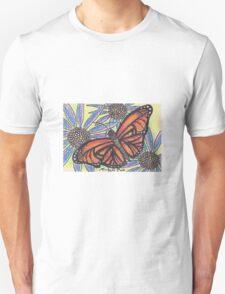 Monarch Butterfly on Flower Unisex T-Shirt