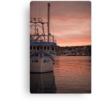 Harbourside Sunset Canvas Print