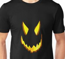 Yellow Halloween Pumpkin Face Unisex T-Shirt