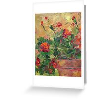 Geraniums Greeting Card