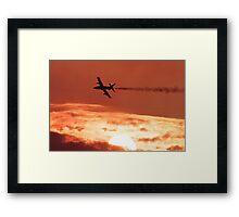Jet at Sunset Framed Print