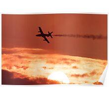 Jet at Sunset Poster