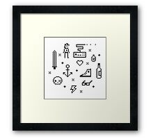 Let's pixelate Framed Print