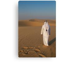 An Arab in the desert Canvas Print