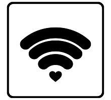 Empathy, Feel Me, WIFI, Heart, Love, I Feel You, Listen, Friend, Tech Photographic Print