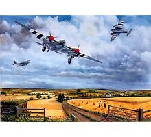 PR Mossie returning after D-Day Photographic Print