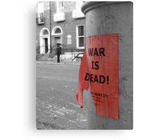 War is Dead! #1 Canvas Print
