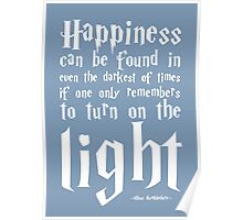 Happiness - Harry Potter Quote. Poster