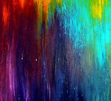 Abstract Painting on Canvas Titled: Wild Color by ZeeClark