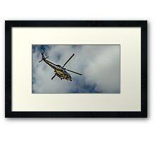 Militar helicopter Framed Print
