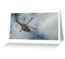 Militar helicopter Greeting Card
