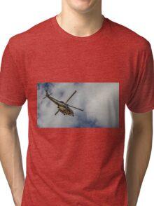 Militar helicopter Tri-blend T-Shirt