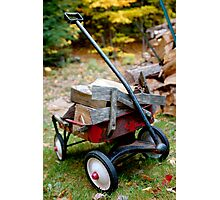 little red wagon Photographic Print