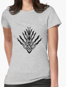 flames (black) - papercut pattern  Womens Fitted T-Shirt