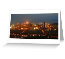 steelworks port talbot Greeting Card
