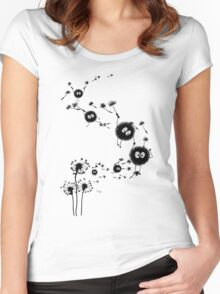 Flying Susuwatari Women's Fitted Scoop T-Shirt