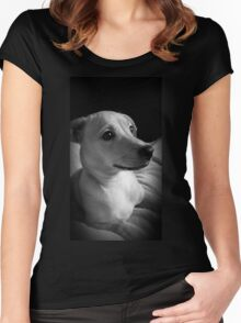 Precious Puppy Women's Fitted Scoop T-Shirt