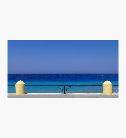 Deep blue greek sea Photographic Print