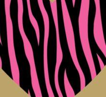 Valentine's Pink  Zebra Stripped Heart Design Sticker