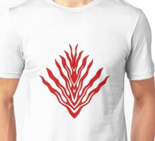 flames (red) - papercut pattern Unisex T-Shirt