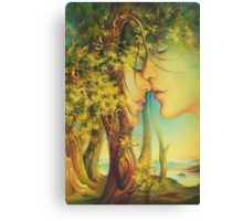 """ An Encounter at the Edge of the Forest"" - postcard & greeting card Canvas Print"