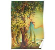""" An Encounter at the Edge of the Forest"" - postcard & greeting card Poster"