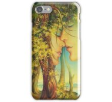 """"""" An Encounter at the Edge of the Forest"""" - postcard & greeting card iPhone Case/Skin"""