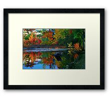 Many colors of New England Framed Print