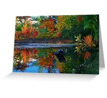 Many colors of New England Greeting Card