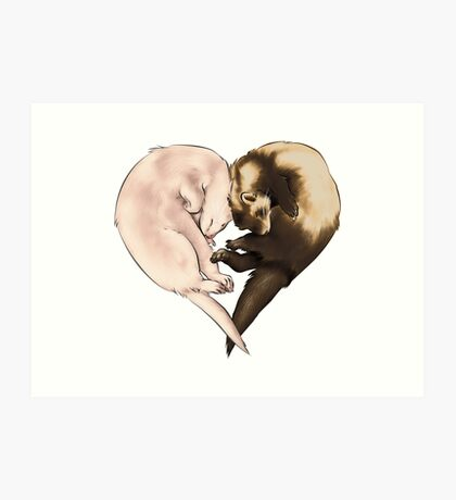 Ferret Love Art Print