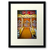 Skee Ball Vintage Boardwalk Game Framed Print