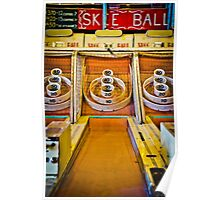 Skee Ball Vintage Boardwalk Game Poster