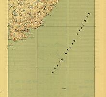 Maine USGS Historical Map Cutler 807458 1918 62500 by wetdryvac