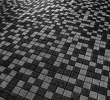 Chequered Paving by Andrew Pounder