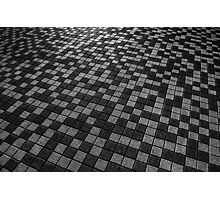 Chequered Paving Photographic Print