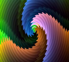 Spiral Ridges-Available As Art Prints-Mugs,Cases,Duvets,T Shirts,Stickers,etc by Robert Burns