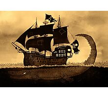 Tick tock the croc & Jolly Roger Photographic Print