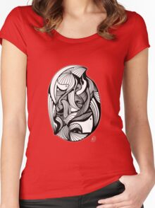 Abstract Moments 55 Women's Fitted Scoop T-Shirt
