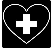 Get Well Soon, Sexy Nurse, Black, Heart, First Aid, Medical by O O