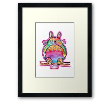 Cute Colorful Totoro! Tshirts + more! (watercolor) Jonny2may Framed Print