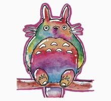 Cute Colorful Totoro! Tshirts + more! (watercolor) Jonny2may One Piece - Short Sleeve